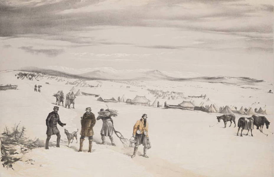 The Seat of War in the East Vol. 1 - The Camp of the Second Division, Looking East. January 1855. (1855)