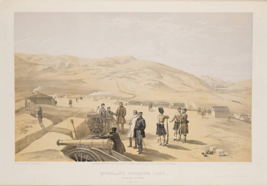 The Seat of War in the East Vol. 1 - Highland Brigade Camp, Looking South. (1855)