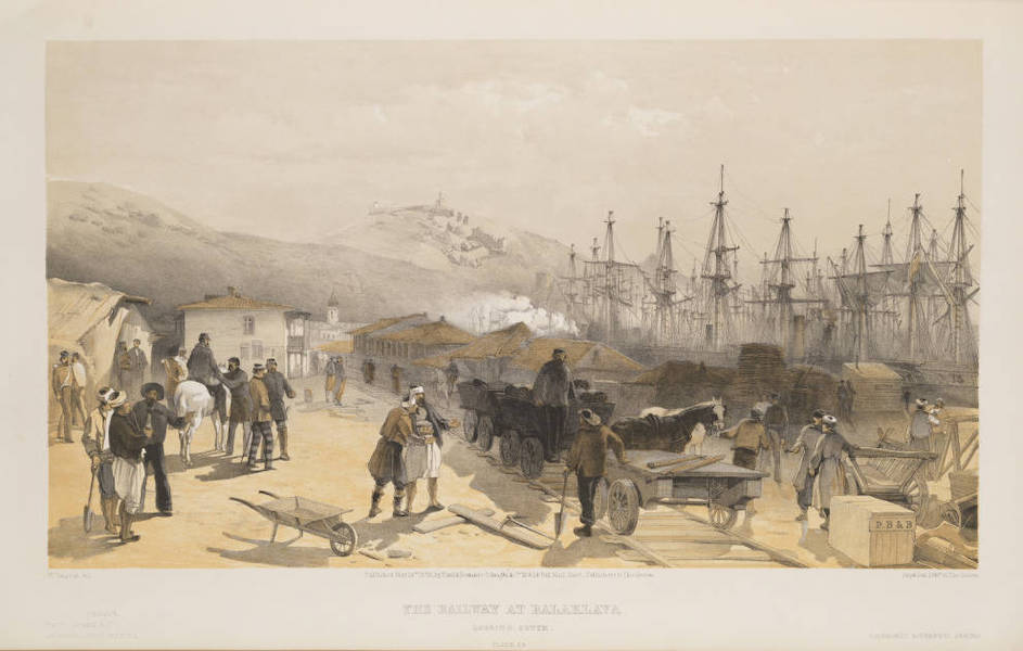 The Seat of War in the East Vol. 1 - The Railway at Balaklava Looking South. (1855)