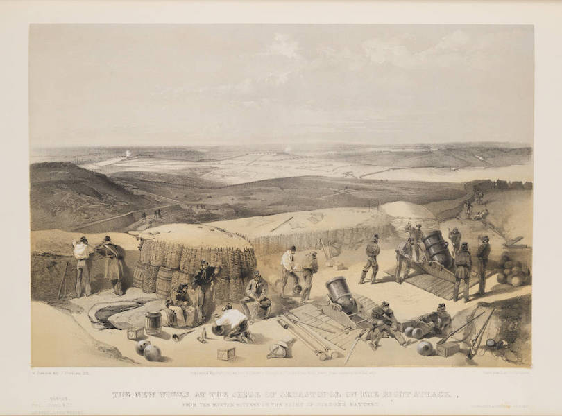 The Seat of War in the East Vol. 1 - The New Works at the Siege of Sebastopol on the Right Attack, from the Mortar Battery on the Right of Gordon's Battery. (1855)