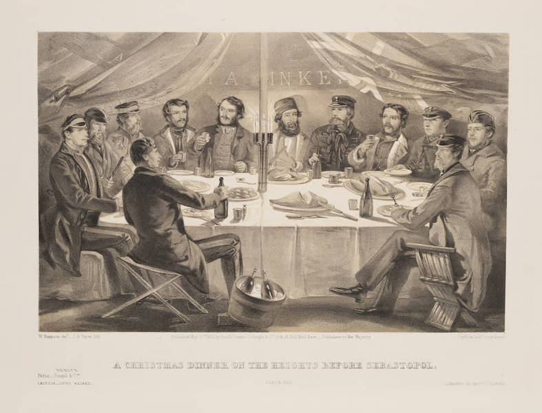 The Seat of War in the East Vol. 1 - A Christmas Dinner on the Heights Before Sebastopol. (1855)