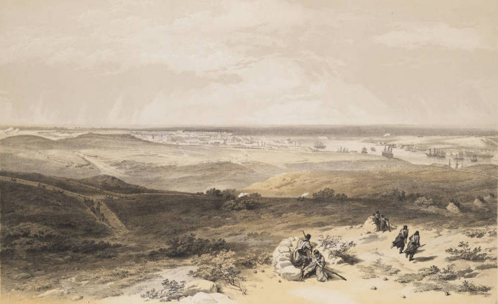 The Seat of War in the East Vol. 1 - Sebastopol from the East or Extreme Right of English Attack. (1855)