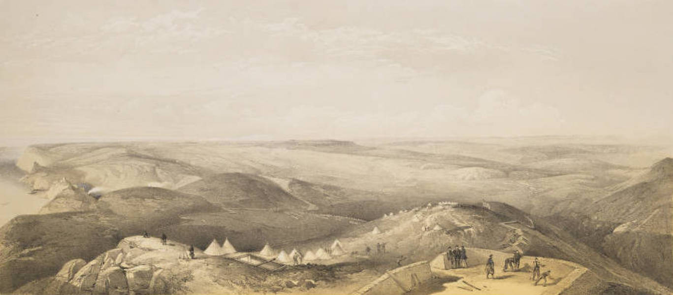 The Seat of War in the East Vol. 1 - View from the Heights Above Balaklava, Looking Towards Sebastopol, Shewing the Ground of the Battles of the 25th Octr. and the 5th Novr. 1854. (1855)