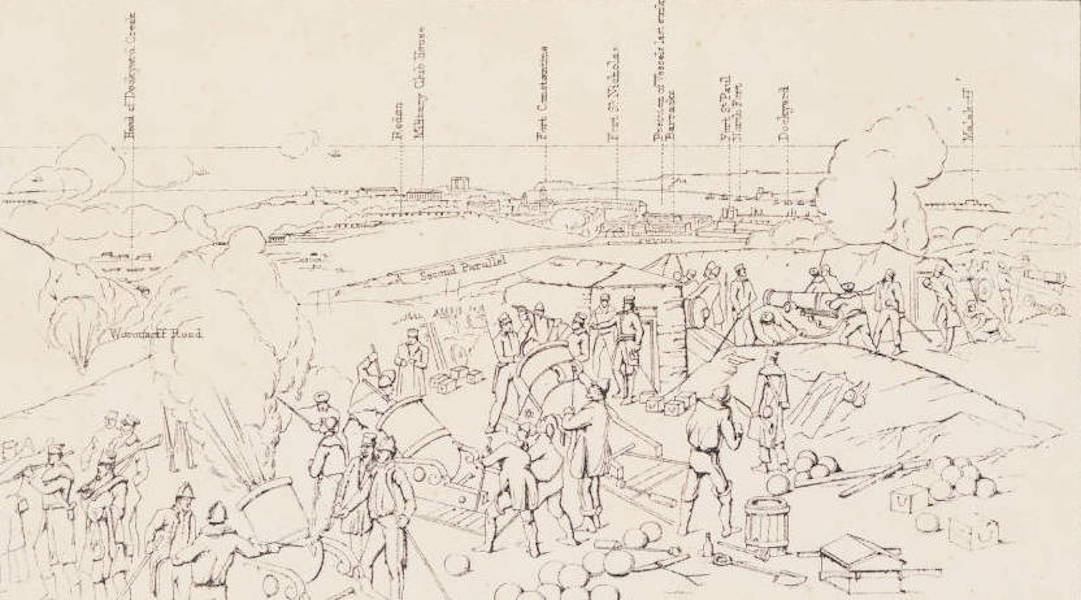 """The Seat of War in the East Vol. 1 - Key to """"A Hot Day in the Batteries."""" (1855)"""