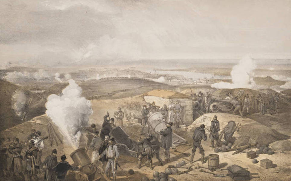 The Seat of War in the East Vol. 1 - A Hot Day in the Batteries. (1855)