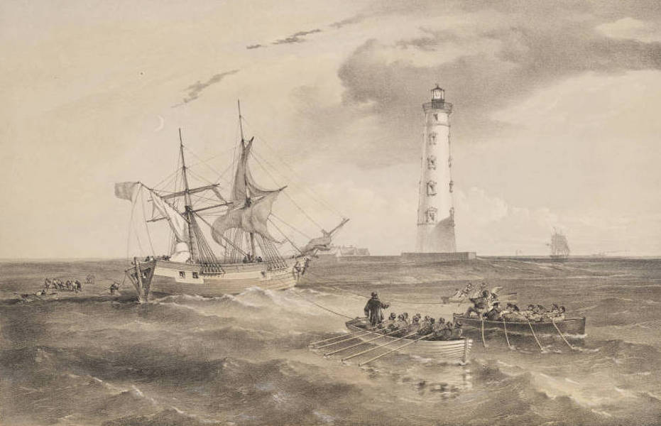 The Seat of War in the East Vol. 1 - The Light-House at Cape Chersonese. Looking South. (1855)