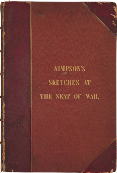 The Seat of War in the East Vol. 2 - Front Cover (1856)