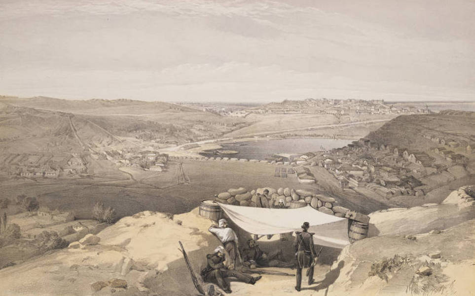 The Seat of War in the East Vol. 2 - The Town Batteries or Interior Fortifications of Sebastopol, From the Advanced Parallel of Chapman's Attack, 23 June 1855. (1856)