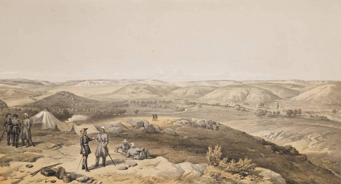 The Seat of War in the East Vol. 2 - Valley of the Tchernaya. Looking North. (1856)