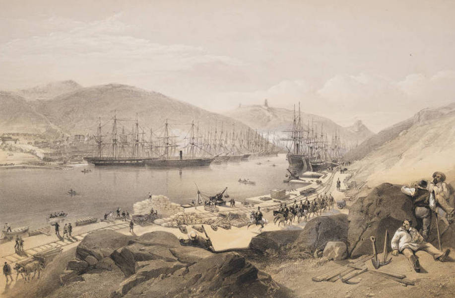The Seat of War in the East Vol. 2 - Balaklava Shewing the State of the Quays & the Shipping, in May 1855. (1856)