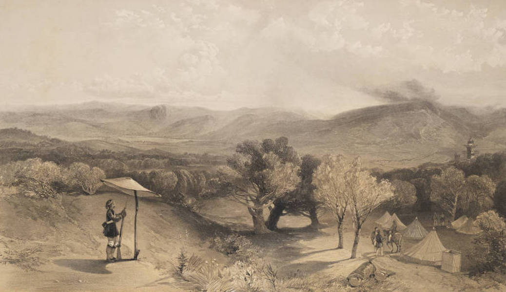 The Seat of War in the East Vol. 2 - The Valley of Baidar. From near Petroski's Villa, Looking East. (1856)