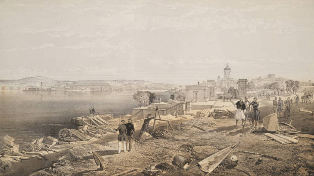 The Seat of War in the East Vol. 2 - Sebastopol from the Rear of Fort Nicholas, Looking South. (1856)