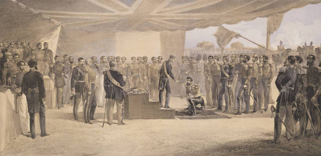 The Seat of War in the East Vol. 2 - The Investiture of the Order of the Bath. At the Head Quarters of the British Army Before Sebastopol. (1856)