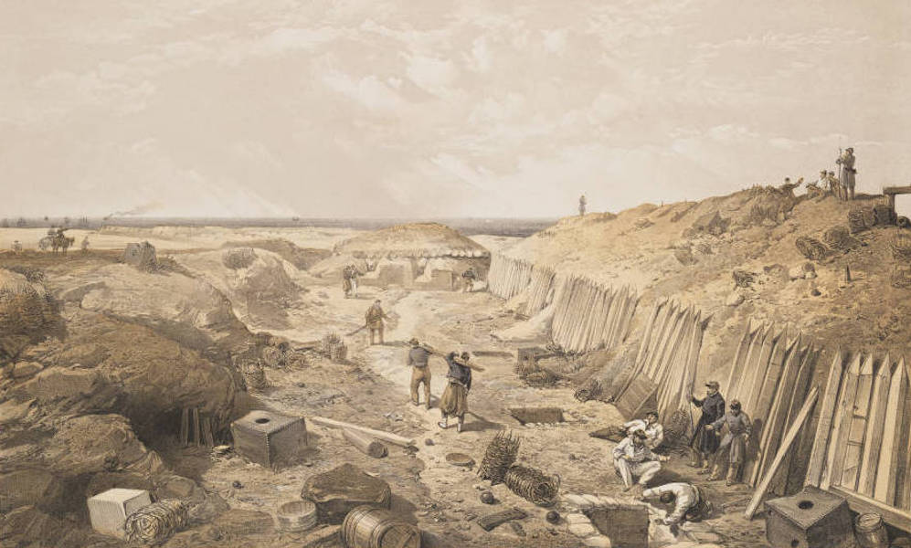 The Seat of War in the East Vol. 2 - Ditch of the Bastion du Mat. (1856)