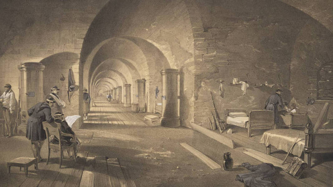 The Seat of War in the East Vol. 2 - Interior of Fort Nicholas. (1856)