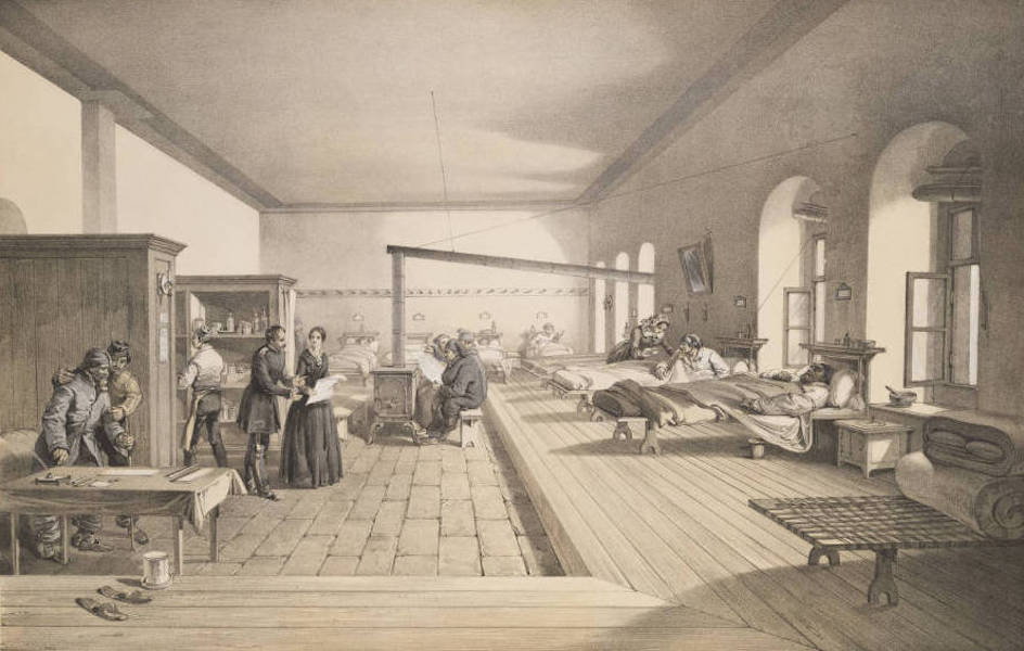The Seat of War in the East Vol. 2 - One of the Wards of the Hospital at Scutari. (1856)