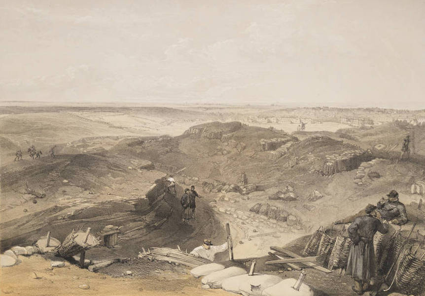 The Seat of War in the East Vol. 2 - Ditch of the Malakoff, Battery Gervais and Rear of the Redan. (1856)