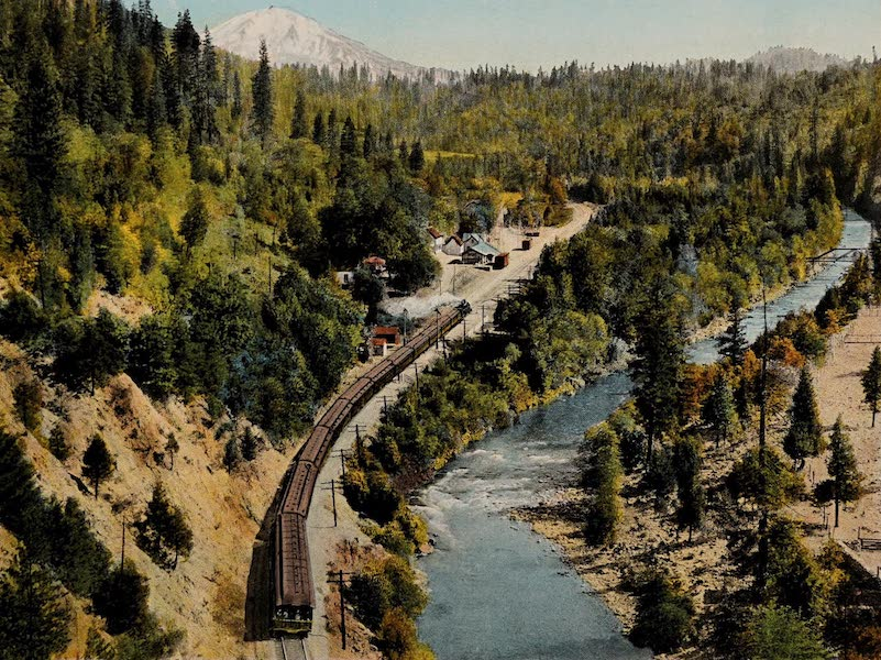 Sacramento River and Mt. Shasta from Castella