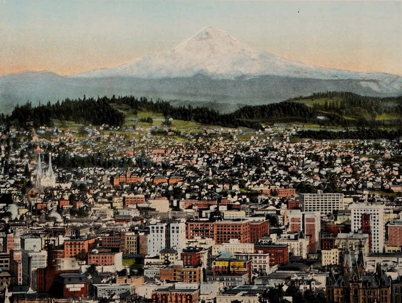 Portland, Oregon, Mount Hood in Distance