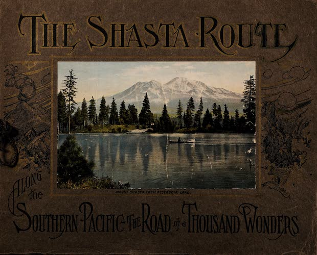 Chromolithography - The Shasta Route in All of Its Grandeur
