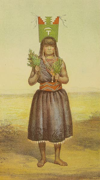 The Snake-Dance of the Moquis of Arizona - Female Dancer. Dance of the Tablet. Pueblo of Santo Domingo, New Mexico (1884)