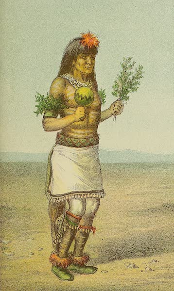 The Snake-Dance of the Moquis of Arizona - Male Dancer. Dance of the Tablet. Pueblo of Santo Domingo, New Mexico (1884)
