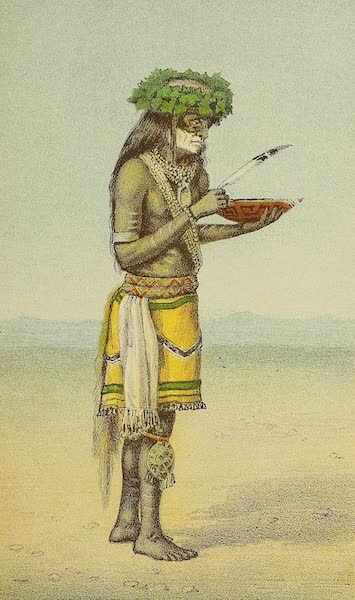 The Snake-Dance of the Moquis of Arizona - Medicine man with bowl of sacred water (1884)