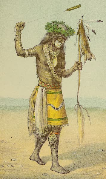 The Snake-Dance of the Moquis of Arizona - Medicine man with sling and medicine bow (1884)