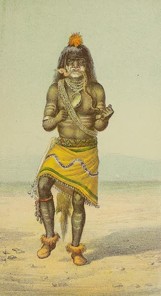 The Snake-Dance of the Moquis of Arizona - Dancer holding snake in mouth (1884)