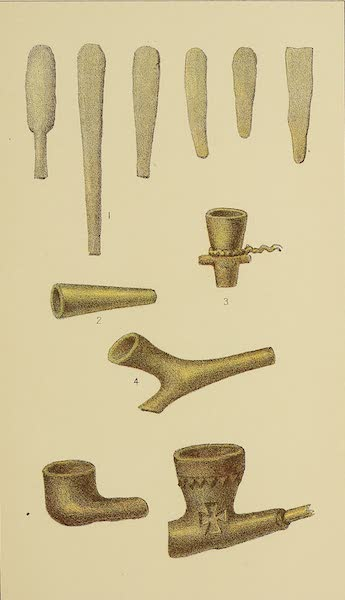 The Snake-Dance of the Moquis of Arizona - Stone implements and pipes, seen in Snake Dance (1884)