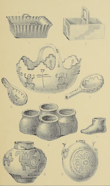 The Snake-Dance of the Moquis of Arizona - Pueblo pottery [I] (1884)