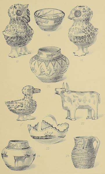 The Snake-Dance of the Moquis of Arizona - Pueblo pottery [III] (1884)
