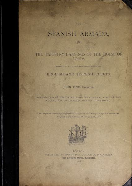 The Spanish Armada - Front Cover (1878)