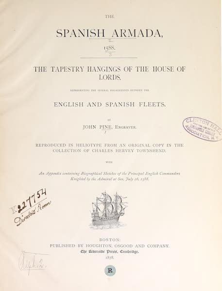 The Spanish Armada - Title Page (1878)