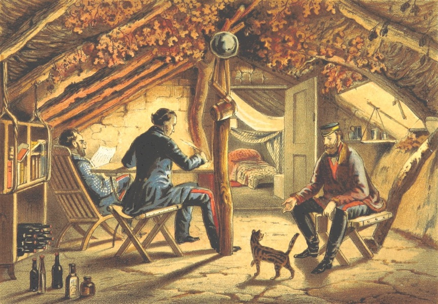The Story of the Campaign of Sebastopol - Interior of Hut in the Camp (1855)