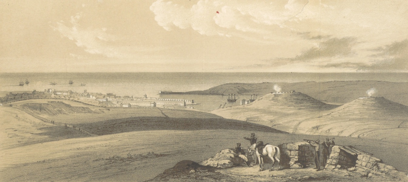 The Story of the Campaign of Sebastopol - Sebastopol from the Piquet House near the Woronzow Road, Augst 1855 (1855)