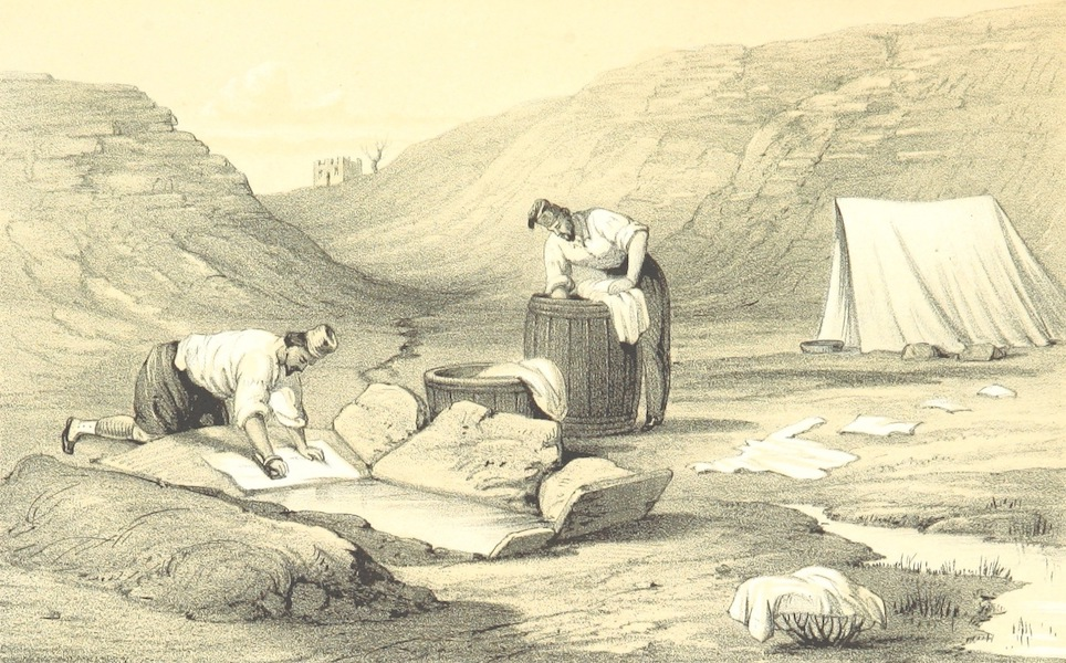 The Story of the Campaign of Sebastopol - Zouaves at a Washing Place (1855)
