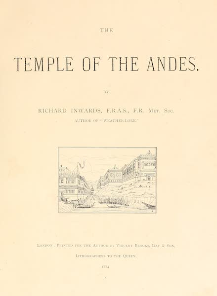 The Temple of the Andes - Title Page (1884)