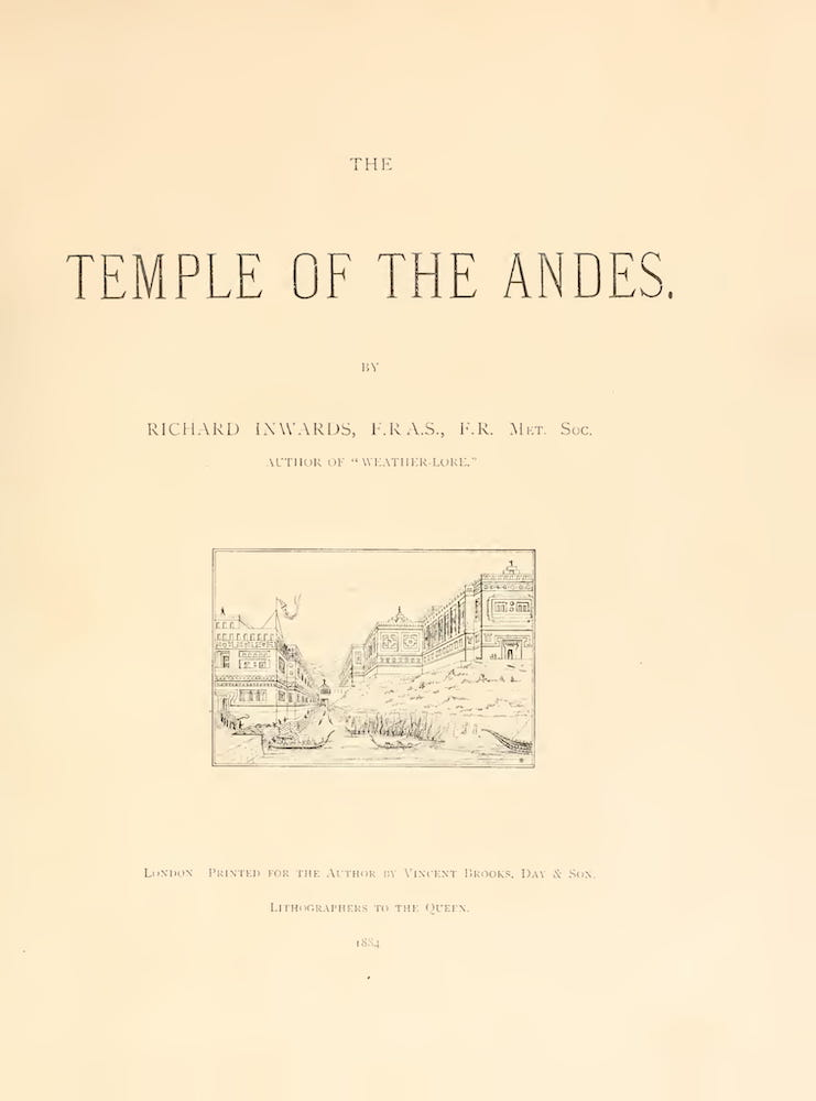 The Temple of the Andes (1884)