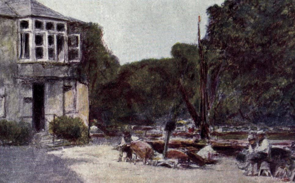 The Thames by Mortimer Menpes - Thames Ditton (1906)