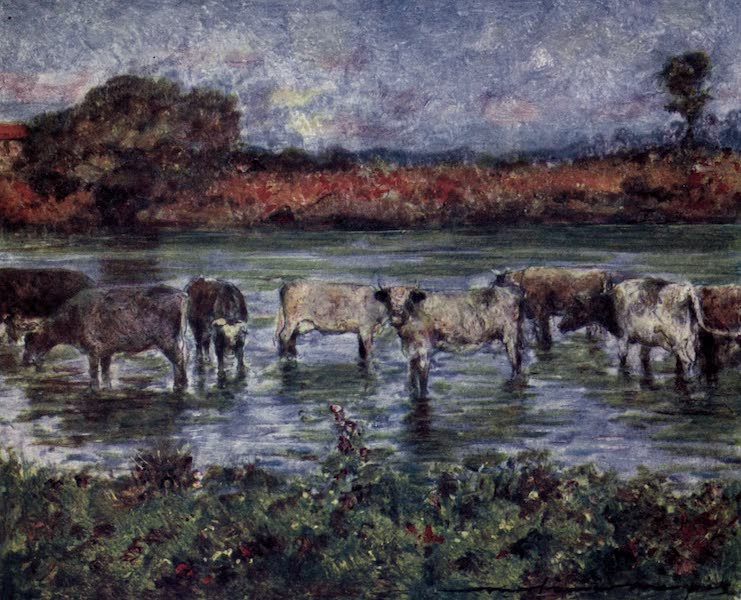 The Thames by Mortimer Menpes - Near the Bridge, Sutton Courtney (1906)