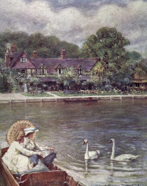 The Thames by Mortimer Menpes - Streatley Inn (1906)