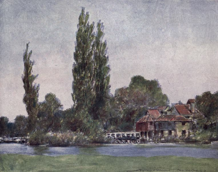 The Thames by Mortimer Menpes - Iffley (1906)