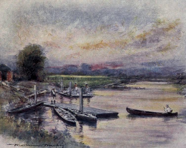 The Thames by Mortimer Menpes - Radley College Boat-house (1906)