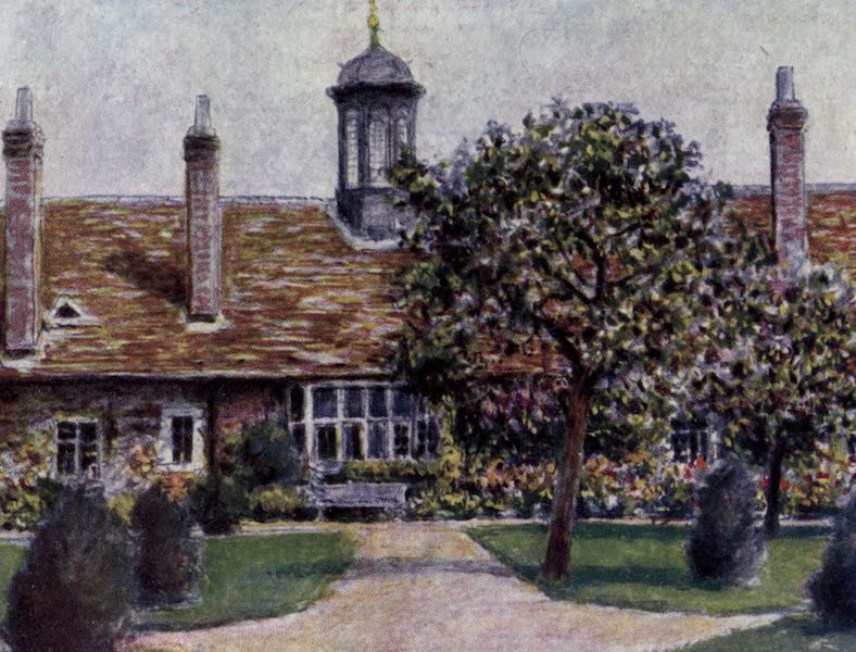 The Thames by Mortimer Menpes - Almshouses of Abingdon (1906)