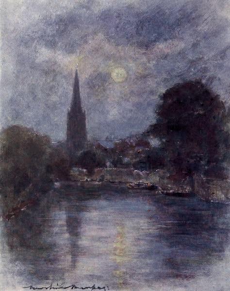 The Thames by Mortimer Menpes - Abingdon (1906)