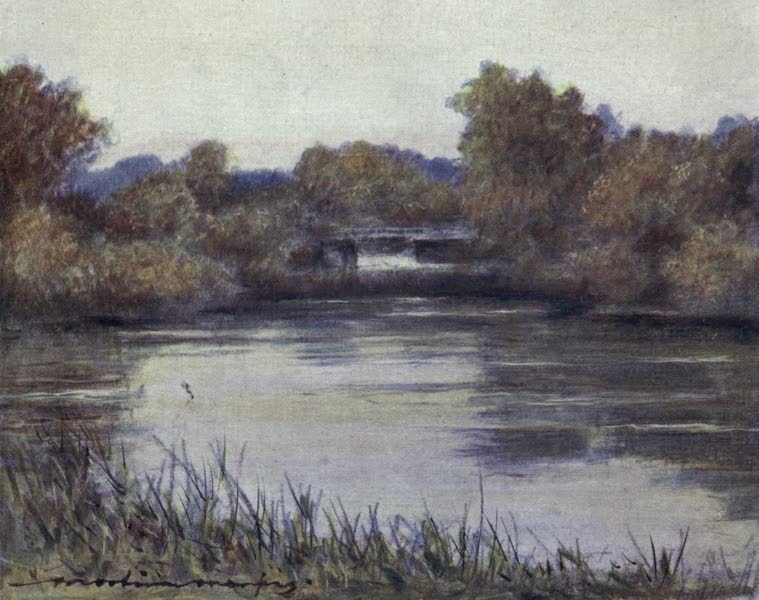 The Thames by Mortimer Menpes - Sutton Courtney Backwater (1906)