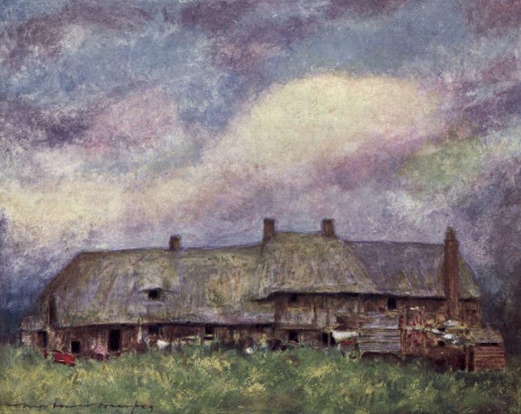 The Thames by Mortimer Menpes - Cottages, Dorchester (1906)