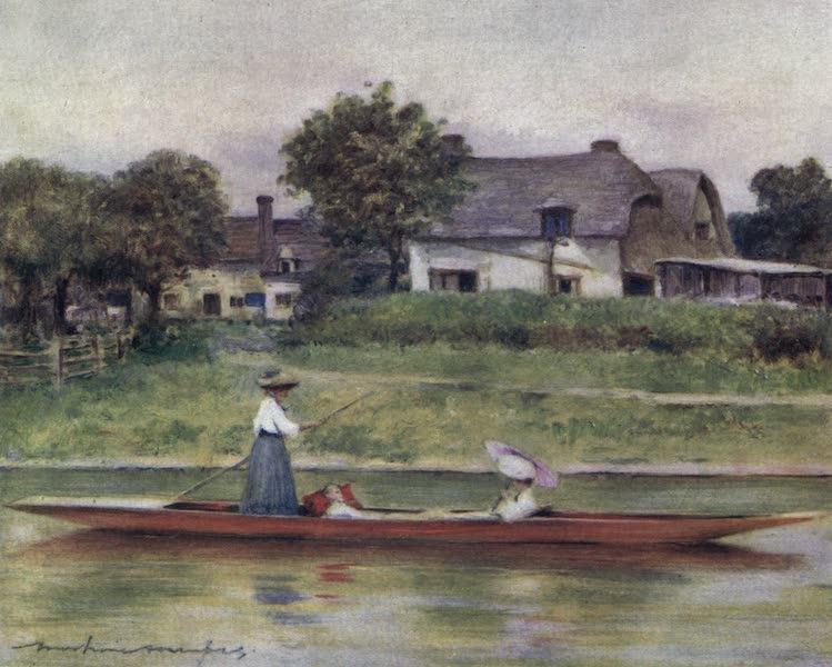 The Thames by Mortimer Menpes - Dorchester Backwater (1906)