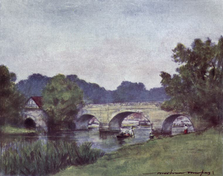 The Thames by Mortimer Menpes - Wallingford (1906)